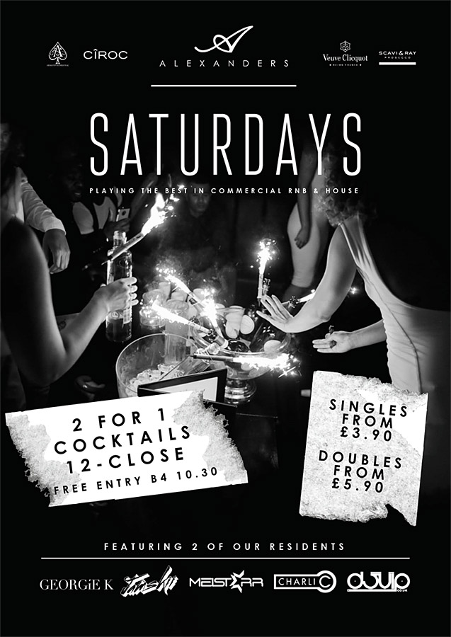Saturdays at Alexanders Bar